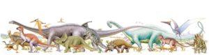 恐竜イラスト 横長縮小