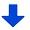 矢印 下ブルー小