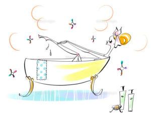 お風呂イラスト2