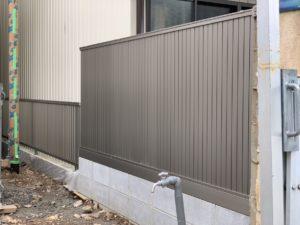 狭所でのブロック&フェンス工事