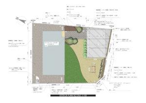 塀と格子とカーポート3台用の外構工事 ¥4,600,000